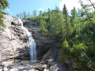 Водопад на р.Курайгагна